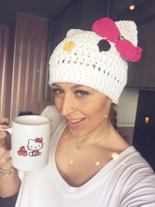 Verena Kerth with Hello Kitty