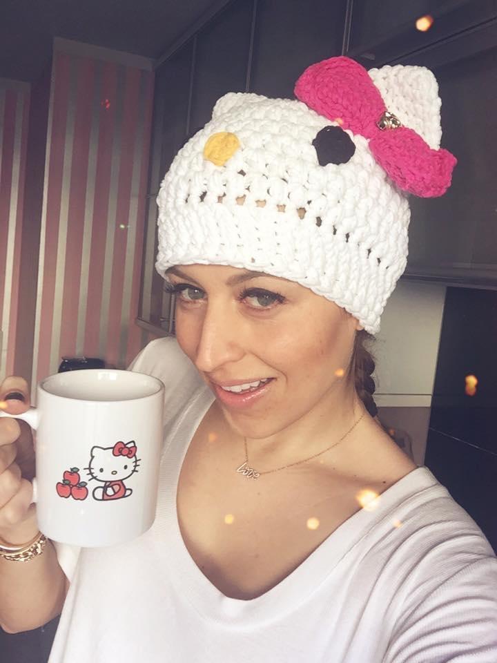 Verena Kerth with Hello Kitty